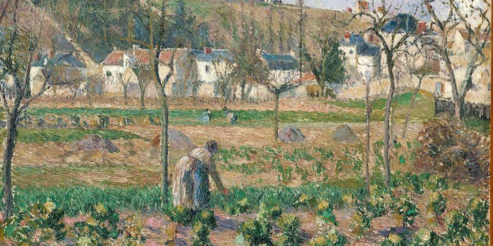 CAMILLE PISSARRO (1830-1903) Le jardin de Maubuisson, Pontoise, la mère Bellette 21 7/16 x 25 7/8 in. (54.5 x 65.7cm)