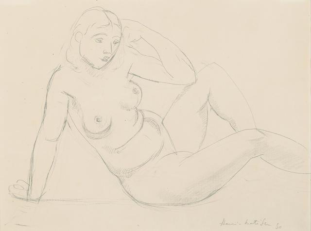 HENRI MATISSE (1869-1954) Nu assis 10 x 13in (25.5 x 33cm)