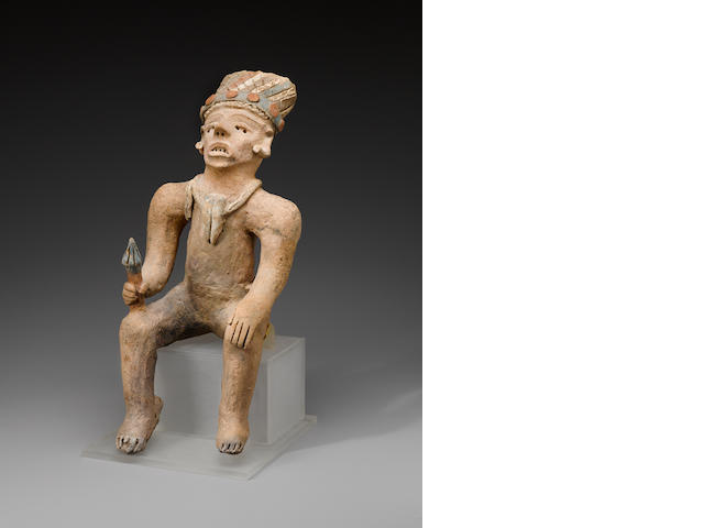 Trujillo or Jama-Coaque Seated Figure, Late Classic, ca. AD 1000 - 1500