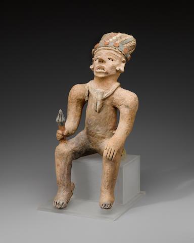 Trujillo or Jama-Coaque Seated Figure, Late Classic, ca. AD 1000 - 1500