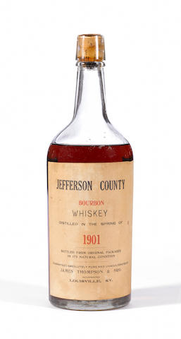 Jefferson County Bourbon Whiskey 1901