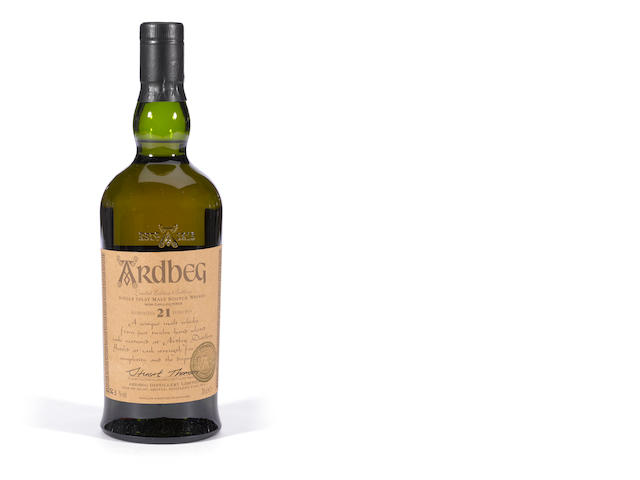 Ardbeg 21 years old.