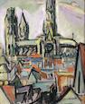 ACHILLE EMILE OTHON FRIESZ (1879-1949) La cathédrale de Rouen 18 x 15in. (46 x 38.1cm)