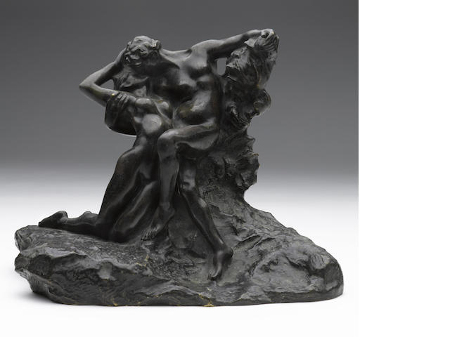 AUGUSTE RODIN (1840-1917) Éternel Printemps, 2ème état, 4ème réduction dite aussi 'no 2' 9 3/4in. (24.6cm) (height) Conceived in 1884 (and in this reduced size in 1898), this bronze version cast between 1910 and 1915