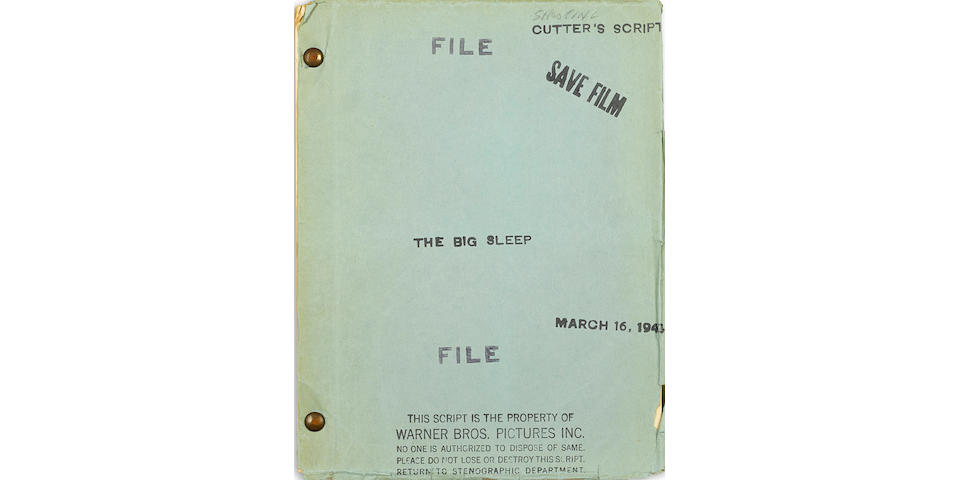 A screenplay of Howard Hawks' The Big Sleep