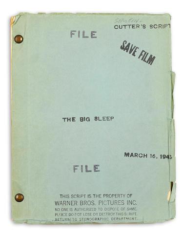A screenplay of Howard Hawks' The Big Sleep
