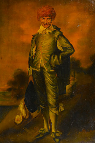 "A John Decker portrait of Harpo Marx as Gainsborough's ""Blue Boy"""