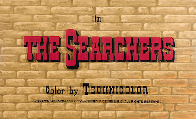 An original title background for The Searchers