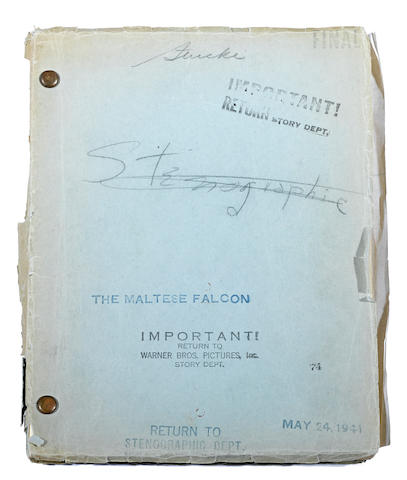 A final screenplay of The Maltese Falcon