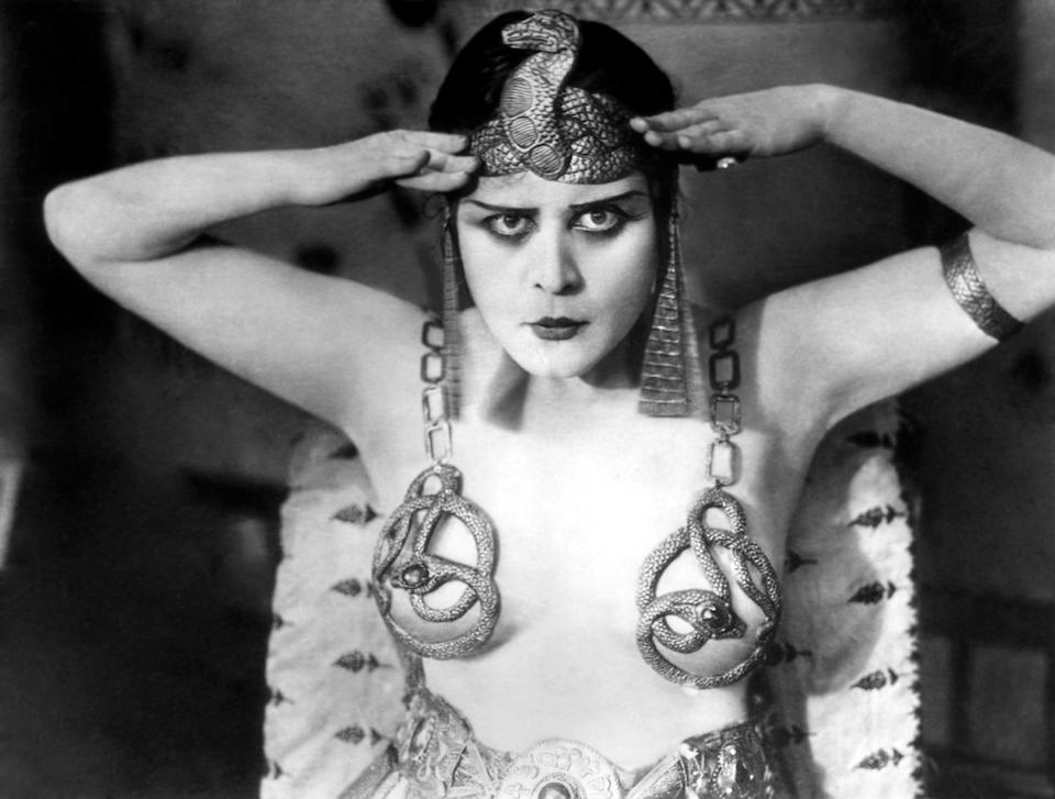 A Theda Bara tiara and earrings from Cleopatra