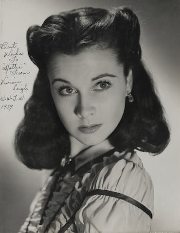 A Vivien Leigh photograph owned by Hattie McDaniel