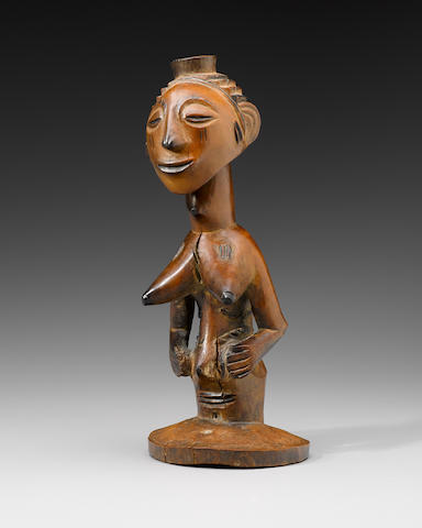 Luba Female Half Figure, Democratic Republic of the Congo