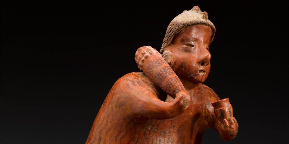 Large Nayarit Standing Male Figure, Protoclassic, ca. 100 B.C. - A.D. 250