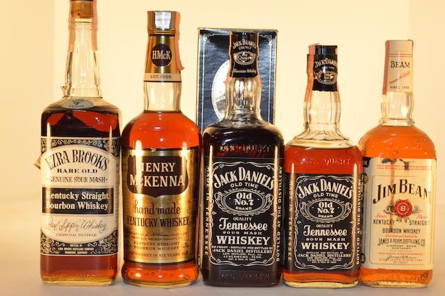 Ezra Brooks (1)   Henry McKenna (1)   Jack Daniel's (2)   Jim Beam (1)