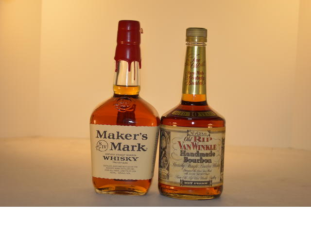 Old Rip Van Winkle 10 years old (1)   Maker's Mark (1)