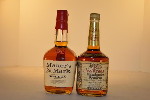 Old Rip Van Winkle 10 years old (1)   Maker's Mark (1)