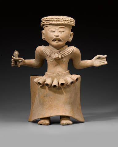 Large Veracruz Standing Priest, Remojadas, Middle-Late Classic, ca. A.D. 400 - 900