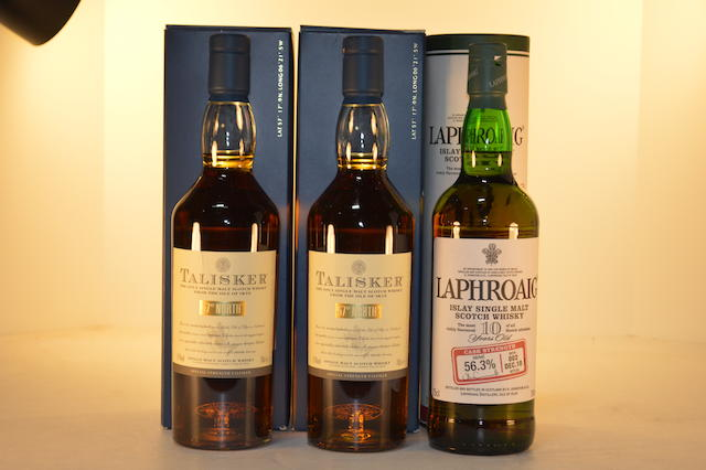 Talisker 57 North (2)   Laphroaig Cask Strength 10 years old (1)