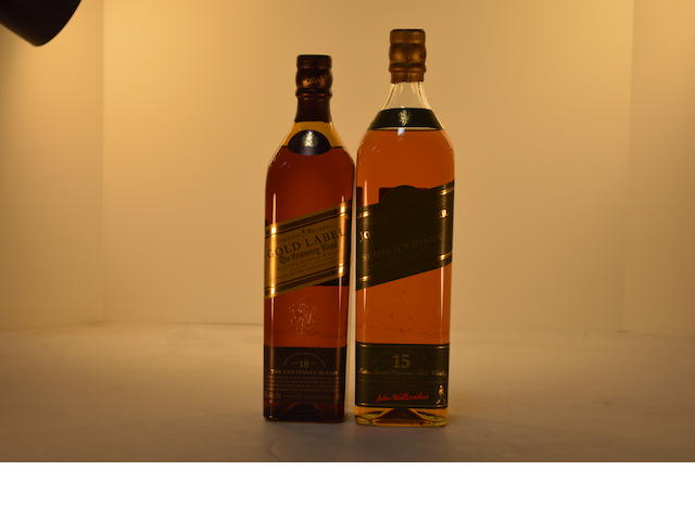 Johnnie Walker Pure Malt 15 years old (1)   Johnnie Walker Gold Label 18 years old. (1)