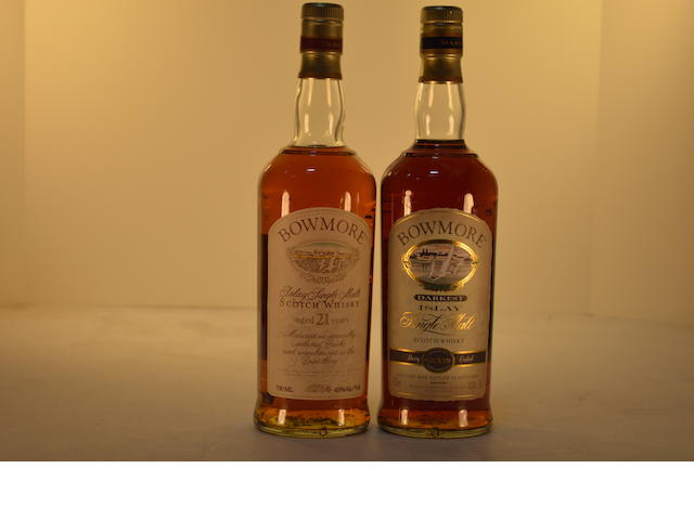Bowmore 21 years old (1)   Bowmore Darkest (1)