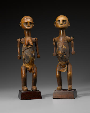 Pair of Shaganna Figures, Tanzania