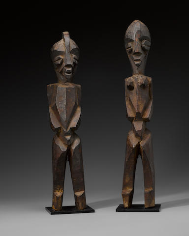 Lobi Abstract Pair, Burkina Faso