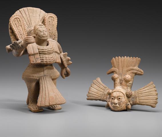 Veracruz Masked Ritual Performer, Napiloa, Late Classic, ca. A.D. 600 - 900