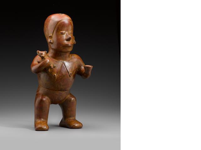 Colima Hunchback Standing Figure, Comala Style,  Protoclassic, ca. 100 B.C. - A.D. 250
