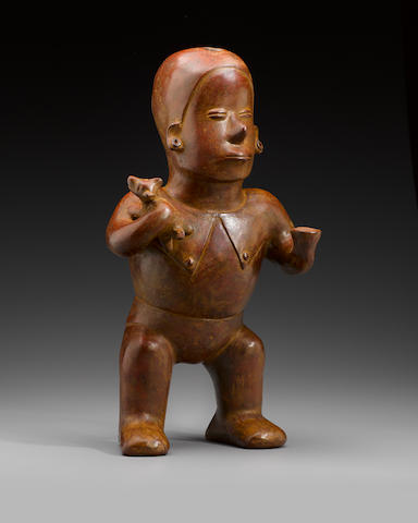 Colima Hunchback Standing Figure, Comala Style,  Protoclassic, ca. 100 B.C. - A.D. 250