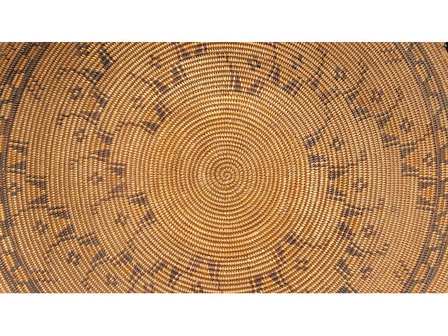 A Chumash polychrome tray