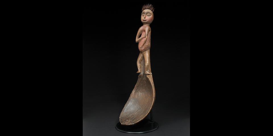 A Kwakiutl potlatch ladle