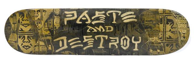 SHEPARD FAIREY (b. 1970) Paste & Destroy, 2011