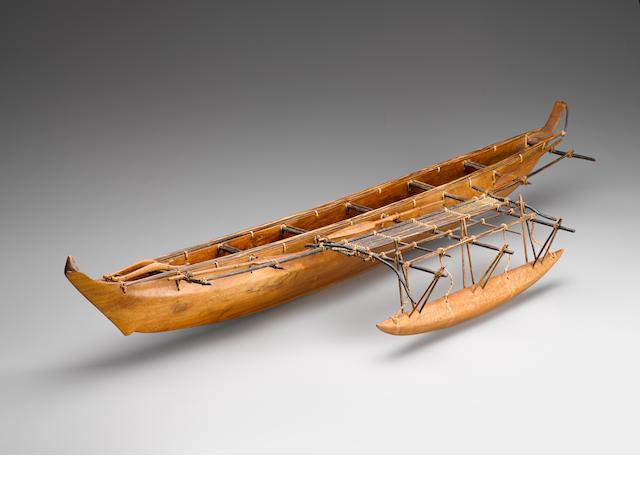 Model Outrigger Canoe, Micronesia