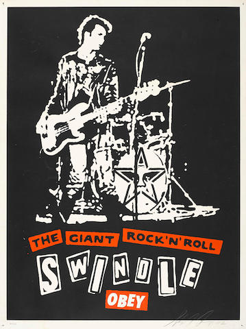 Shepard Fairey (American, born 1970); The Giant Rock and Roll Swindle;