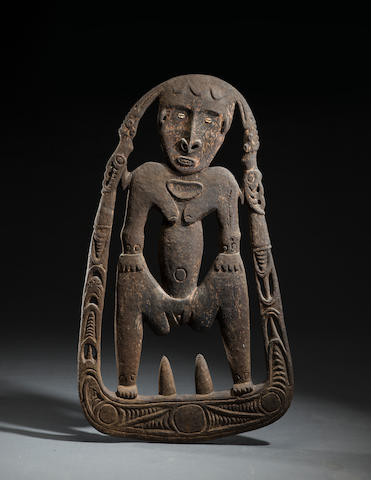 Sawos Figural Skull Rack, Torembi Village, Middle Sepik River, Papua New Guinea