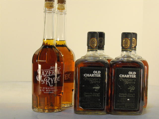 Old Charter Proprietor's Reserve 13 years old (4)   Sazerac Rye 6 years old (2)