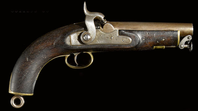 An early Victorian percussion Sea Service pistol
