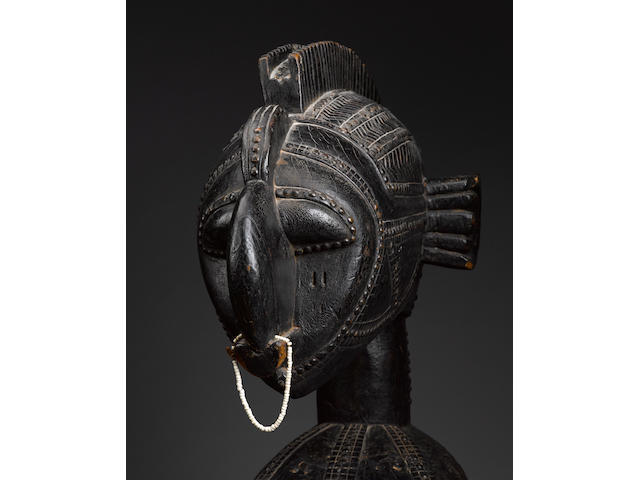 Magnificent Baga Mask with a Superstructure Representing a Beautiful Mother, Guinea Coast, Guinea