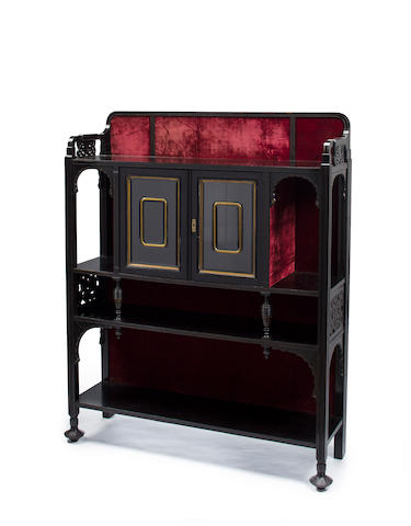 An Aesthetic Movement ebonized and brass-mounted cabinet Herter Brothers, New York, 1870-1880