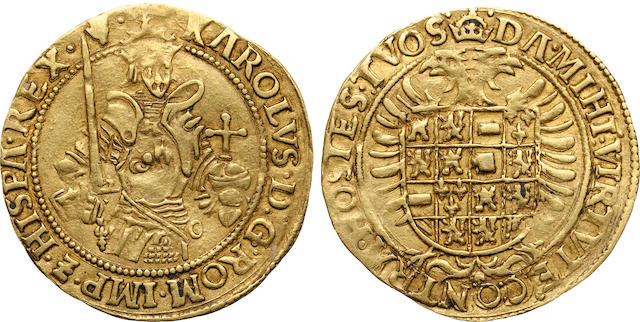 Belgium, Brabant, Charles V of Spain, No Date (1506-1555), Gold Real d'or Antwerp
