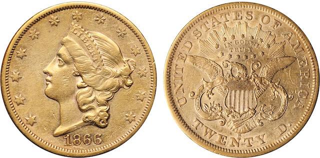 1866-S Motto $20