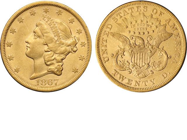 1867-S $20
