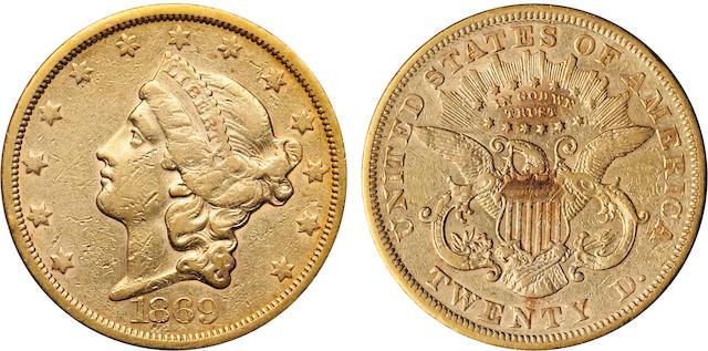 1869-S $20
