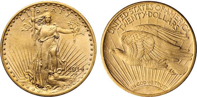 1914-S $20