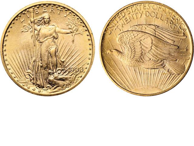 1908 No Motto $20
