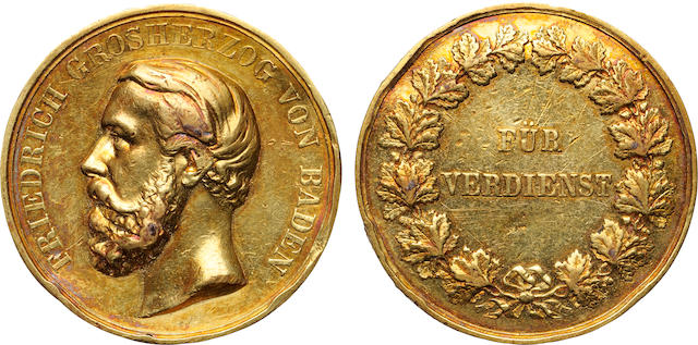 Germany, Frederick I Grand Duke of Baden Gold Medal