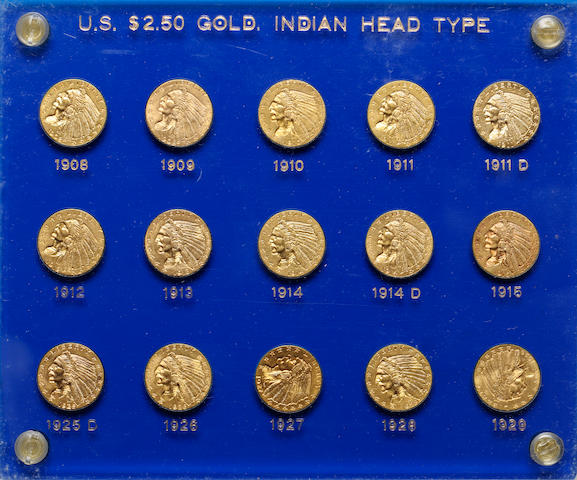 U.S. $2.50 Gold Indian Head Set