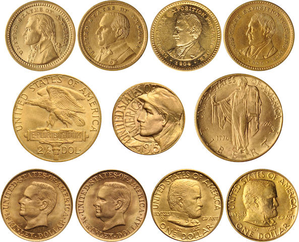 U.S. 11 Piece Gold Commemorative Set
