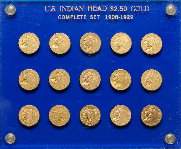 U.S. $2.50 Gold Indian Head Set