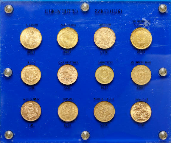 Gold Coins of the World housed in a Capital Plastics Holder (12)